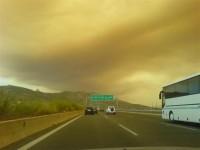 Από την μεγάλη φωτιά στην Πάρνηθα το 2007